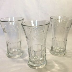 Coca-Cola CLEAR Glass Large Cup 6-1/4 ""